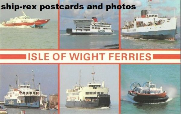 Isle Of Wight Ferries ,multi-view postcard